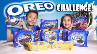 getlinkyoutube.com-OREO CHALLENGE!!! The Blindfold Cookie Tasting Game Show!