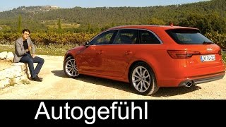 getlinkyoutube.com-Audi A4 Avant Estate/Wagon/Kombi FULL REVIEW test driven quattro all-new neuer 2016