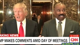 getlinkyoutube.com-After Meeting With Donald Trump Steve Harvey Steps Up To The Mic At Trump Tower