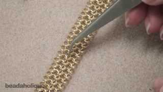getlinkyoutube.com-How to Make a European 4-in-1 Chain Maille Bracelet