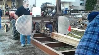 getlinkyoutube.com-Dwane Eisenhauer Sawmill Homemade Cantilever Style