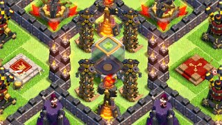 getlinkyoutube.com-TH10 Dark Elixir Hoarding/Farming Base (After Update - 275 Walls) - Clash Of Clans