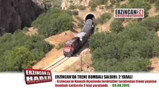 Erzincan'da Yük Trenine Bombalı Saldırı: 2 Yaralı