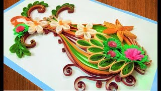 getlinkyoutube.com-☑️Quilling Card DIY Paper Quilling Birthday Greeting Card ⏭ Step by Step 🌹Paper Quilling Art🌹