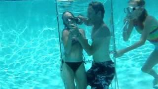 getlinkyoutube.com-Underwater wine tasting, Orange Park, Jacksonville, pool party idea,  fun pool toy, fun pool game.