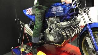"getlinkyoutube.com-Honda CBX 6 The ""Beast 666 "" Racing ,Turn up the sound!!"