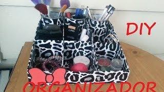 DIY- organizador de maquillaje!
