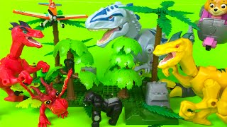 DINOSAUR TRex Jungle animals Deadly 60 jungle playset juguetes perfect boys toys