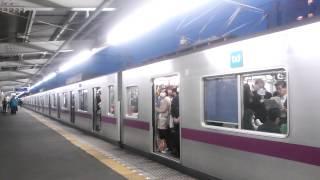 getlinkyoutube.com-東京メトロ8000系 普段は絶対止まらない東向島駅に停車