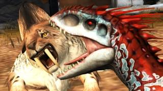 getlinkyoutube.com-Cenozoic creatures Vs Mammoth Arena Battle | Jurassic World The Game
