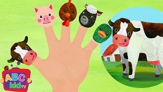 getlinkyoutube.com-Finger Family Farm Animals | Nursery Rhymes & Kids Songs - ABCkidTV