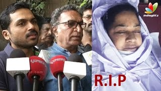 getlinkyoutube.com-Karthi, Kovai Sarala, Nassers's condolence speech to Kalpana's Death | Malayalam Actress