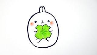 getlinkyoutube.com-몰랑 몰랑이 그리기(X3) How to draw Bunny Molang #048 cute kawaii かわいい 可愛