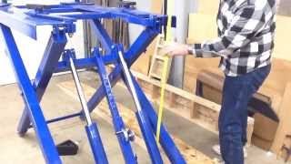 getlinkyoutube.com-Harbor Freight Scissor Lift #91315 review wrap up.