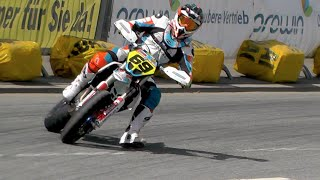 getlinkyoutube.com-Supermoto Drifts, Jumps & Crashes | iDM St. Wendel 2016