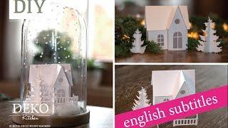getlinkyoutube.com-Weihnachtsdeko basteln - Winterlandschaft Tutorial / Winter wonderland How-to | Deko Kitchen