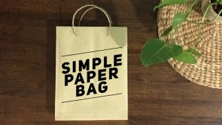 getlinkyoutube.com-Simple Paper Bag Tutorial