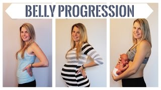 getlinkyoutube.com-BELLY PROGRESSION! From 5 to 36 weeks pregnant with Baby Nate