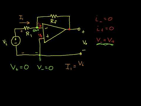 Op Amp Circuit Analysis: Inverting Amplifier