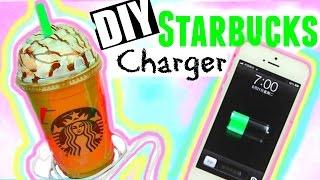 getlinkyoutube.com-DIY STARBUCKS CHARGER! Tumblr Inspired Room Decor ♡