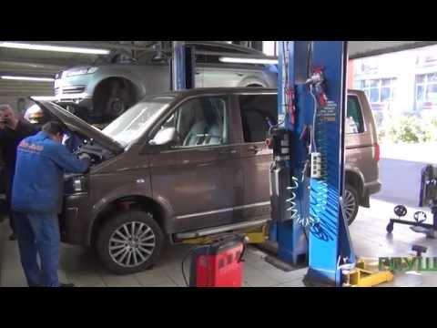 Удаление сажевого фильтра на Volkswagen Multivan. Удаление сажевого фильтра в СПБ.