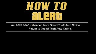 How to get UNBANNED from GTA Online.