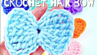 getlinkyoutube.com-How to: Crochet Hair Bow (Simple and Easy!)