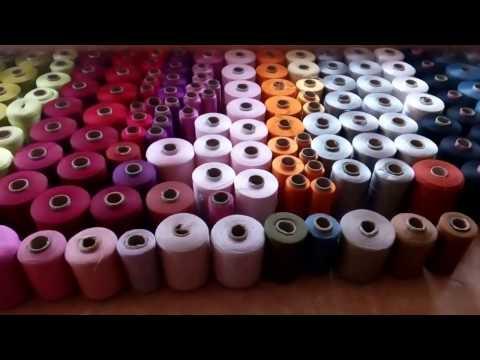 Видео - Нитки для коврового оверлока большой выбор цветов различный вес бабин доставка по всей Украине