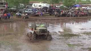 getlinkyoutube.com-Deuce and a Half 2 1/2 Ton with Tractor Tires! Trucks Gone Wild 2013 Colfax LA Mudfest! TGW