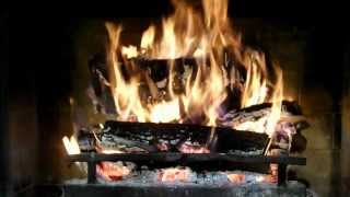 getlinkyoutube.com-The best warm natural fireplace with crackling sounds. Great virtual fireplace yule log