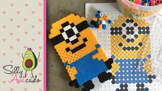 getlinkyoutube.com-How to Make a Minion w/ Biggie Beads! Template Included for little kids! Stuart from Despicable Me!