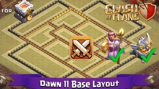 getlinkyoutube.com-Clash Of Clans: TH11 | BEST Clan War Base Layout (With GW and Eagle Artillery) - Dawn 11