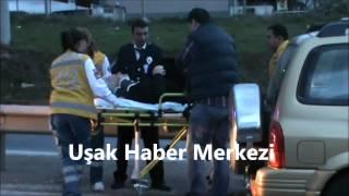 Uşak-Sivaslı Yolunda Kaza! 2 Yaralı!