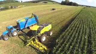 New Holland FR700 with 12-row maize header