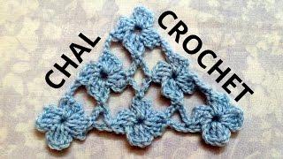 getlinkyoutube.com-Como tejer un Chal en tejido crochet con Punto Margarita tutorial paso a paso.
