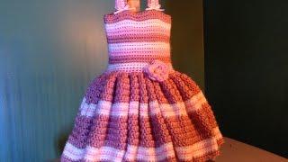 getlinkyoutube.com-How to Crochet Easy Baby Dress - for newborn photos