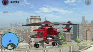 getlinkyoutube.com-LEGO Marvel Super Heroes - Unlocking and Flying Deadpool's Helicopter (Vehicle Token Location)