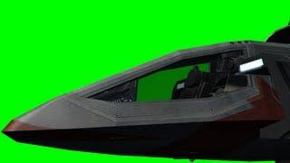 spaceship cockpit - green screen