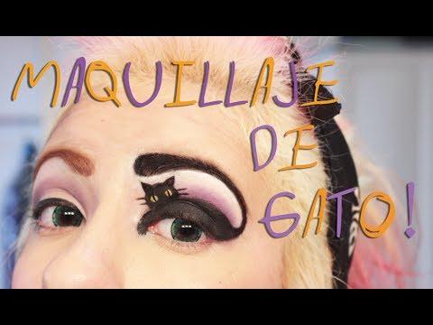 ➵ Maquillaje Para Halloween! ✞ Gato en un Ojo ☠ - Miranda Ibañez