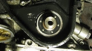 getlinkyoutube.com-Replacing the timing belt and front oil seal on a GM 2.2L engine Daewoo, Isuzu, part 3: Oil seal