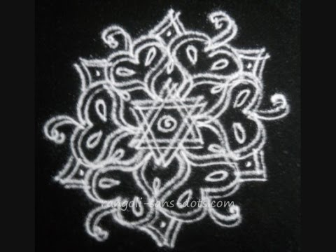 Learn to make a Rangoli / kolam  - double line - special designs