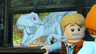 getlinkyoutube.com-LEGO Jurassic World Indominus Rex Hunts Owen & Clair