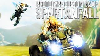 getlinkyoutube.com-Halo 5 Prototype Custom Game: SPARTANFALL