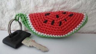 getlinkyoutube.com-Кусочек  АРБУЗА  slice of watermelon Crochet