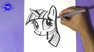 getlinkyoutube.com-how to draw my little pony - Como dibujar a  twilight sparkle - how to draw twilight sparkle