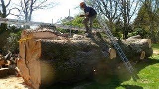 getlinkyoutube.com-Gigantic cedar milling part 2