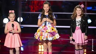 getlinkyoutube.com-Molly S, April and Molly W Sing Over The Rainbow | The Voice Kids Australia 2014