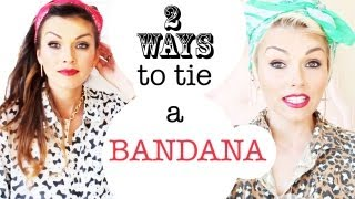 getlinkyoutube.com-How To Tie A Bandana 2 Ways in Your Hair | Kandee Johnson