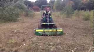 Major Equipment Synergy Mower cutting saplings