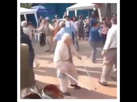 Old man dancing Trance Music (Tritonal:
